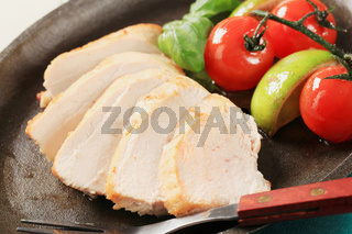 Pan seared chicken breast fillet