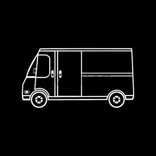 Truck trading on wheels restaurant fast food coffee