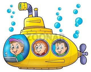 Submarine theme image 1 - picture illustration.