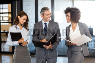 Business team with document and organizer