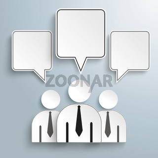 3 Businessmen Quadratic Speech Bubbles