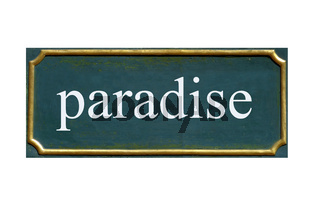 schild paradise