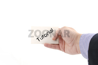 Tutorial text concept