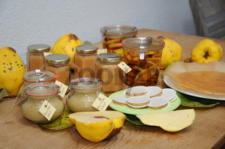 Cydonia oblonga, Quitte, Quince, Produkte