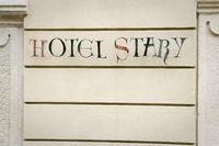 Hotel Stary sign Krakow Poland