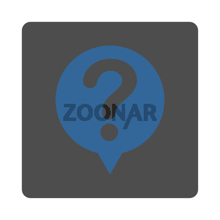 Status flat cobalt and gray colors rounded button