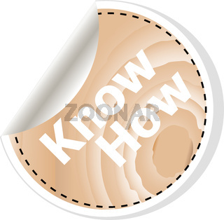 know how words on vector business wooden app icon isolated on white background. vector illustration