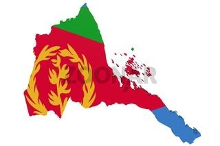 Eritrean Flag Map