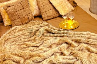 Fur bed