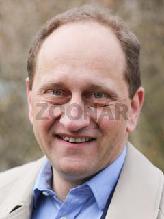 Alexander Graf Lambsdorff (FDP) während eines FDP-Aktionstages zur Landtagswahl in Magdeburg