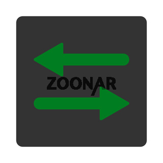 Arrows Exchange Horizontal flat green and gray colors rounded button