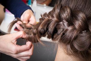 weave braids in the barbershop