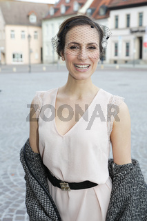 Sängerin Maria Levin bei Dreharbeiten zur MDR-Sendung 'Schlager einer Stadt' in Köthen 14.5.15