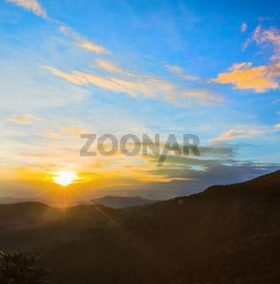The Horton Plains. Sunrise