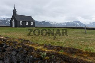 Island -Kirche bei Budir-
