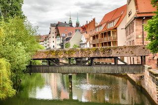 Covered bridge in Nuremberg