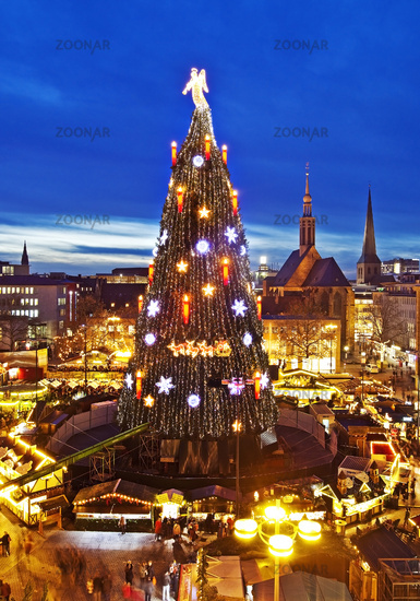 Christmas market, Dortmund, Ruhr area, North Rhine-Westphalia, Germany