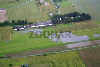 Herten Flugplatz, wegen Hochwasser gesperrt
