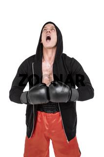 Boxer preparing for the tournament