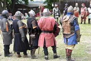 Ritterkämpfe im Mittelalter.