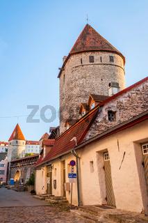 Medieval wall in Tallinn, Estonia