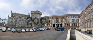 Panorama Dublin Castle - historic landmark of Irelands capital