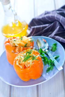 pepper stuffed with cabbage