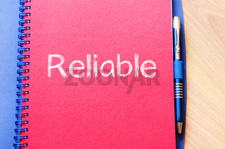 Reliable write on notebook
