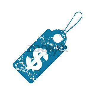 Grunge dollar price icon