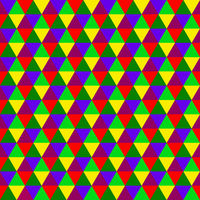 Abstract multicolored geometric seamless pattern of triangles