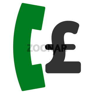 Pound Pay Phone Flat Vector Icon Symbol