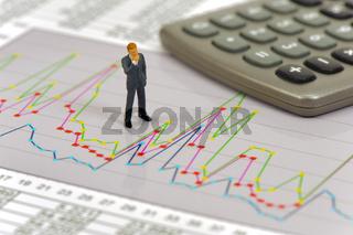 Finanzen mit Chart und Banker