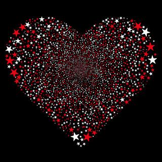 Star Fireworks Heart