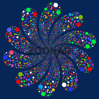 Bubble Salute Swirl With Ten Petals