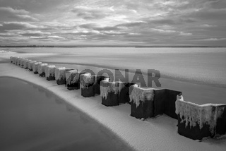 Ostsee - Gefrorene Boddenlandschaft am Darss