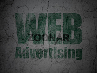 Advertising concept: WEB Advertising on grunge wall background
