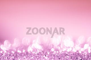 Pink bokeh circles background.