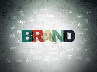 Advertising concept: Brand on Digital Data Paper background