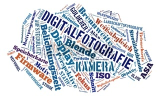 Word-cloud zum Thema Fotografie