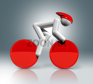 Cycling Track 3D symbol, Olympic sports