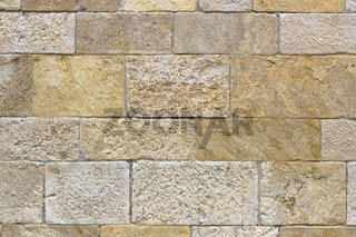 Wall of square stones