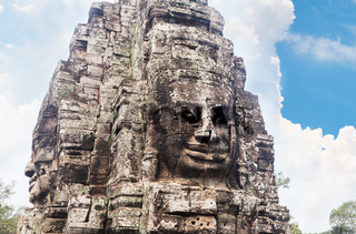 Faces of Bayon temple in Angkor Thom