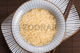 bowl of parboiled risotto rice