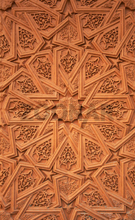 gringe background with oriental ornaments