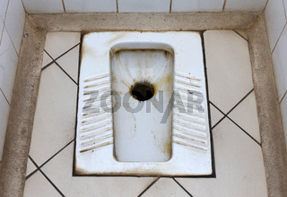 Dirty toilet in Madagascar