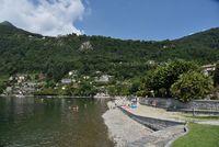 Cannero riviera lake maggiore beach