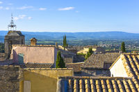 view over the roofs of village Le Barroux, Provence, France, view from castle Château du Barroux