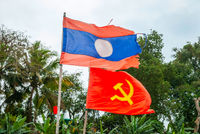 Flag of Laos and communism