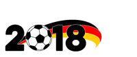 Hintergrund Banner Fußball WM 2018 Deutschland