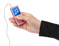 Mp3 player in hand